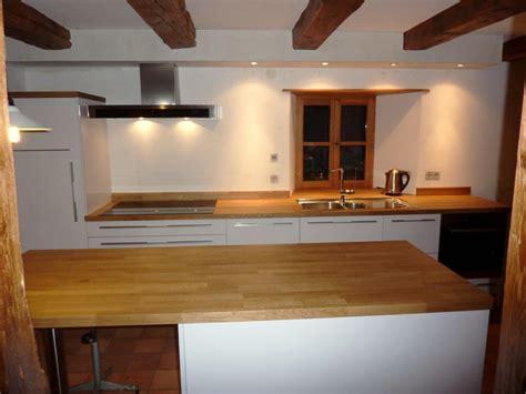 cuisine plan de travail bois massif cuisine stratifié brillant plan de travail bois massif