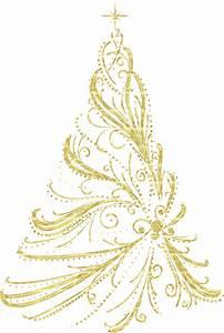 Transparent Golden Decorative Christmas Tree PNG Clipart