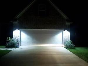 Innovative led lights outside house exterior