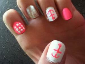Cute And Easy Nail Designs Anchor Pink | Cute Nails ...