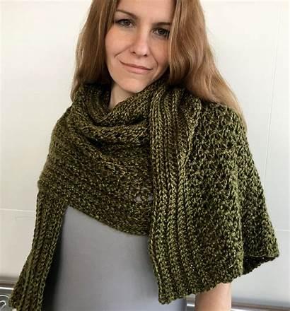 Crochet Shawl Easy Pattern Patterns Wrap Scarf