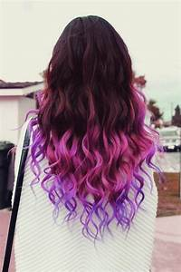 Ombre Hair Color Idea: Brown, Pink, Purple Ombre Hair ...