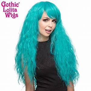 Alexa Yellow Green Light Gothic Wigs Store Rhapsody Collection Teal
