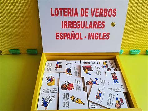 Recursos para estudiantes, profesores y traductores. Lotería Verbos Irregulares Español-inglés, Paquete De 8 Jgos - $ 1,032.00 en Mercado Libre