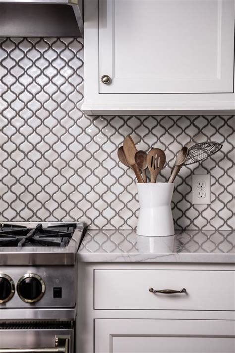 arabesque tile backsplash steel french kitchen hood with gray marble arabesque tiles transitional kitchen