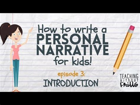 writing  personal narrative writing  introduction