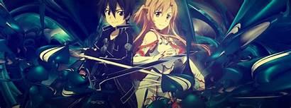 Sao Dual Sword Monitor Background Wallpapers Anime