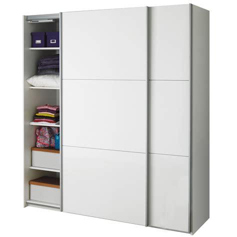 armoire cuisine coulissante armoire 2 portes coulissantes blanc laqué brillant