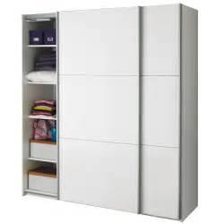 armoire 2 portes coulissantes blanc laque brillant With armoire murale porte coulissante