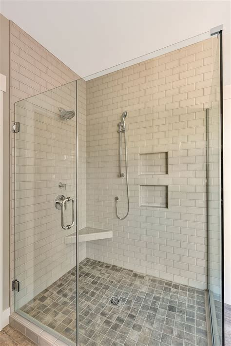 walk  master shower  fully tiled shower walls