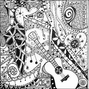 Art Therapy Coloring Page Music I Like The Guitar 7