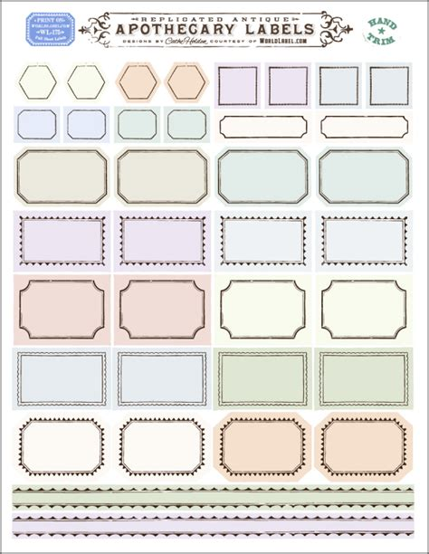 Chutney Label Templates by Ornate Apothecary Blank Labels By Cathe Holden