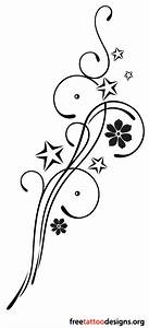 Feminine tribal tattoo design with stars and flowers ...