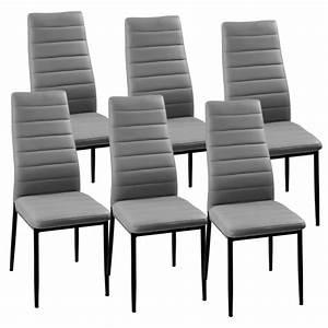 Lot De 6 Chaises Pas Cher : deco in paris lot de 6 chaises gris iris iris grisx6 ~ Teatrodelosmanantiales.com Idées de Décoration