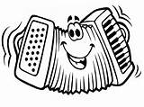 Accordion Coloring Pages Drawing Cartoon Musical Instruments Colouring Sketch Face Results Funny Sheet Getdrawings Template sketch template