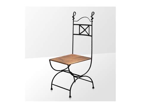 chaises fer forg la métallerie chaise en fer forgé avec coussin