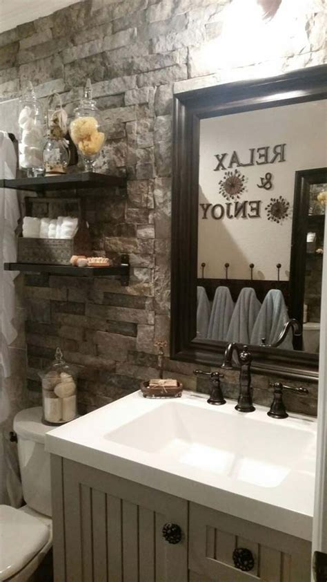 awesome ideas  add rustic style  bathroom amazing
