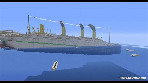 Ship Sinking Simulator Ships by Minecraft H M H S Britannic Sinking Youtube