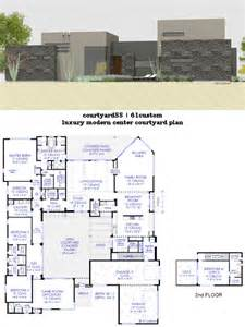 courtyard plans luxury modern courtyard house plan 61custom contemporary modern house plans