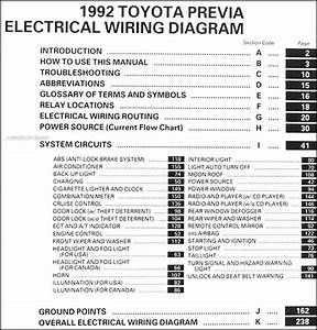 1992 Toyota Previa Wiring Diagram Manual Original