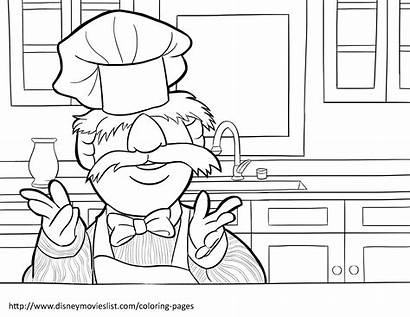 Chef Coloring Pages Muppets Swedish Sweden Disney