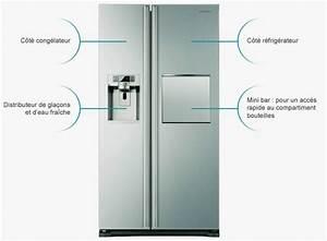 Frigo Americain Avec Glacon : frigo americain avec distributeur glacons table de cuisine ~ Premium-room.com Idées de Décoration