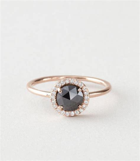 20 gorgeous black diamond engagement rings deer pearl flowers