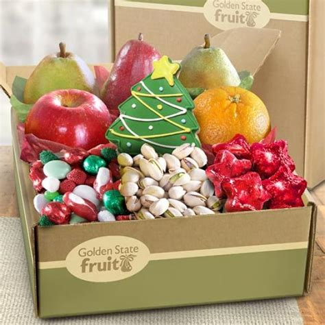 christmas goodies and fruit holiday gift box ab1019 a