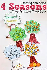 How To Make A Weather Chart For Classroom Learning About The 4 Seasons Cute Free Printable Tree Book