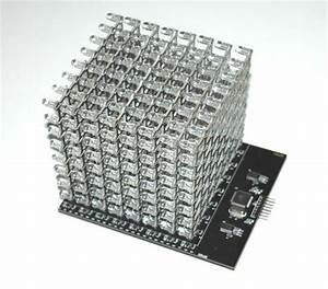 8x8x8 Rgb Led Cube Shield In 2019