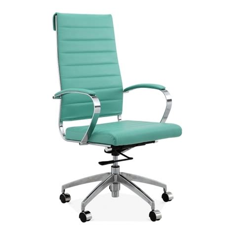 chaise bureau turquoise cult living deluxe turquoise high back office chair cult