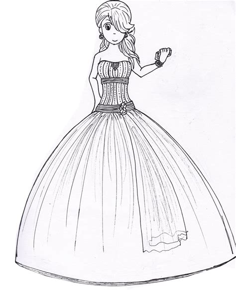 drawn gown prom dress pencil   color drawn gown