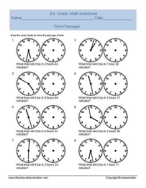 Telling Time Worksheet For Third Grade Archives Edumonitor