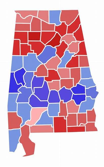 Alabama Election Map Senate County Results States