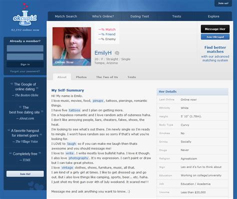 Online Dating Profile Templates, Online Dating Profile