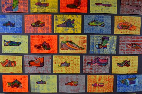 Expedition Art 5th Grade Pop Art Shoe Project
