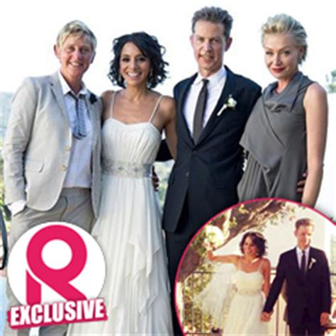 private wedding  ellen degeneres brother