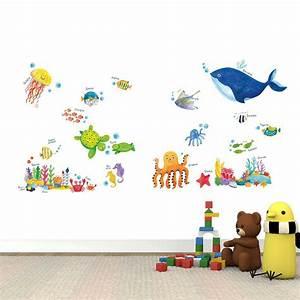 Wandtattoo Unterwasserwelt Kinderzimmer : wandsticker wandtattoo meerestiere unterwasserwelt fische kinderzimmer www 4 ~ Sanjose-hotels-ca.com Haus und Dekorationen