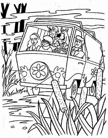 Coloring Mystery Pages Machine Scooby Doo Halloween