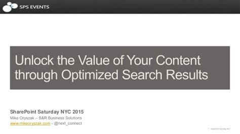unlock     content  optimized search