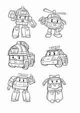 Poli Robocar Coloring Pages Simple Printer Print Para Colorear Colouring Ninos Coloriage Characters Books Cars Adult Dibujos Robo Printable Paginas sketch template