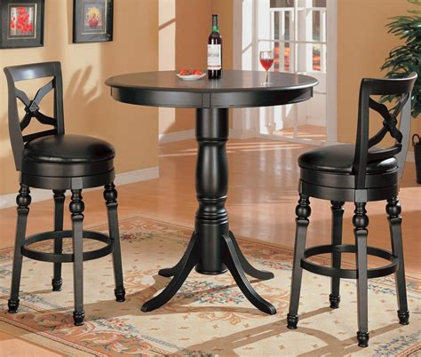 small round pub table pub table set modern colorful linen upholstery bar stools