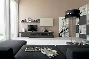 Schwarze Möbel Welche Wandfarbe : wohnzimmerm bel tolle wohnwand designs die sie inspirieren ~ Bigdaddyawards.com Haus und Dekorationen