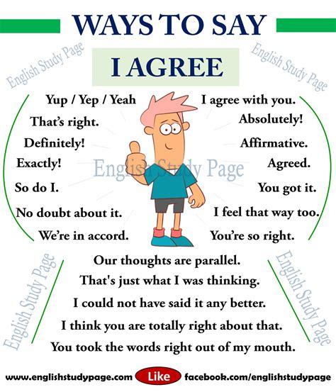 Ways To Say  I Agree  English Study Page