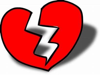 Broken Heart Clip Clipart Hearts Clker Domain
