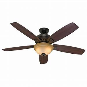Quot hunter premier bronze ceiling fan toffee glass light