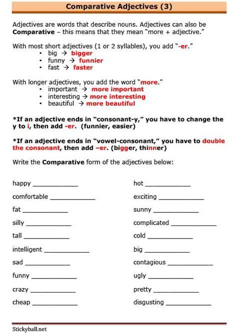esl grammar comparative adjectives quot more adjective quot