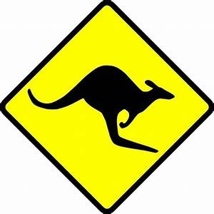 Kangaroo road sign Free vector for free download about (3 ...