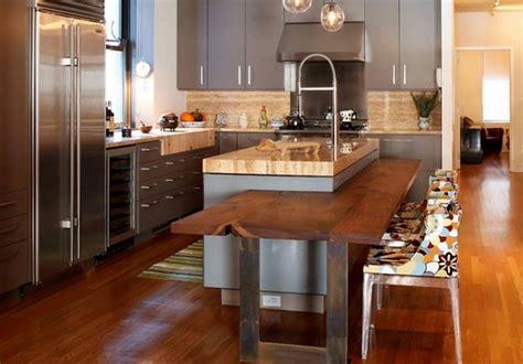 cuisine equipee avec table integree ilot central cuisine avec table int 233 gr 233 e deco maison moderne