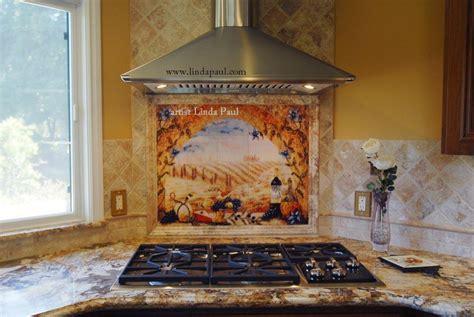 kitchen mural backsplash tile murals tuscany backsplash tiles